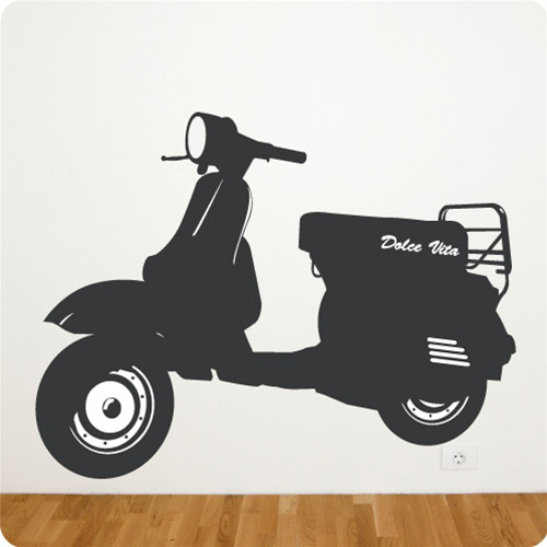 Vespa P Wall Decal