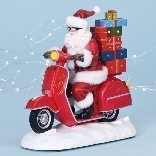 Christmas in july a scooter santa music box scooter swag for Vespa decoration