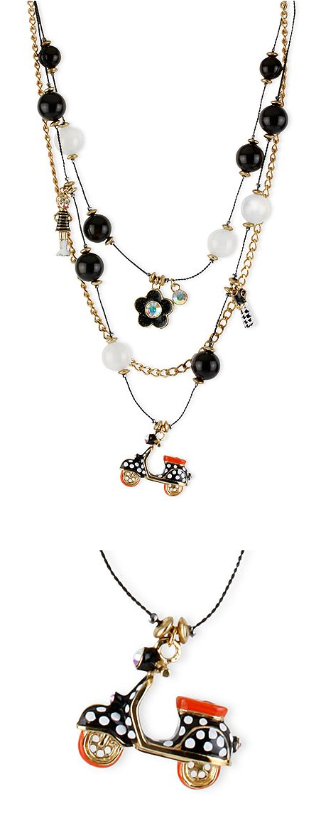 Betsey Johnson Scooter Vespa Necklace Charm