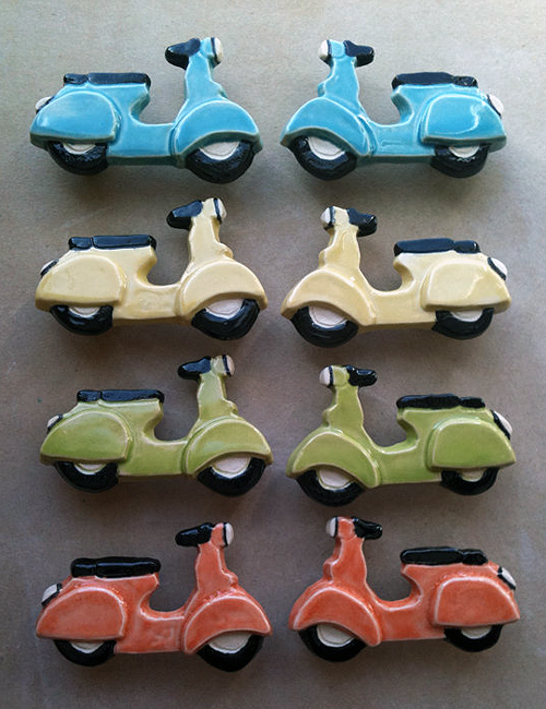 Scooter Drawer Pulls Vespa Etsy