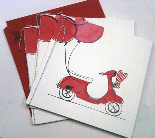 Valentine Scooter Vespa Greeting Card Carlton Target