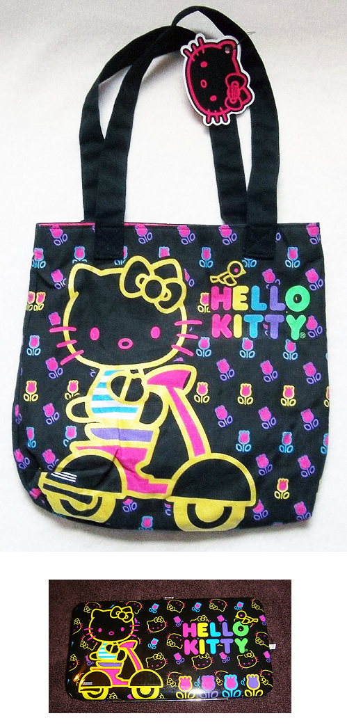 Hello Kitty Neon Scooter Vespa Purse Bag Cell Phone Case