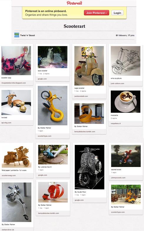 Pinterest scooterart scooter art vespa lambretta