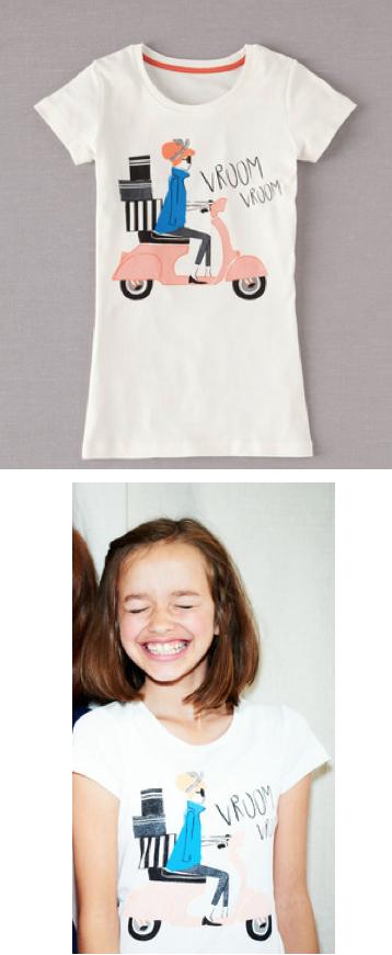 Vroom Scooter Girls Shirt Boden