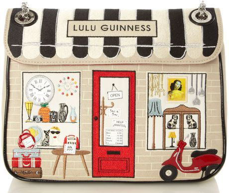 Lulu Guinness Vespa Scooter Shop Annabelle Purse
