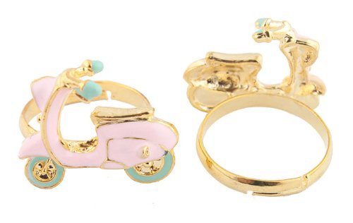 Pink  Aqua Scooter Vespa Rings Girls Party Favors
