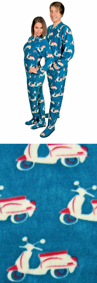 Scooter Vespa PJs Footed Pajamas