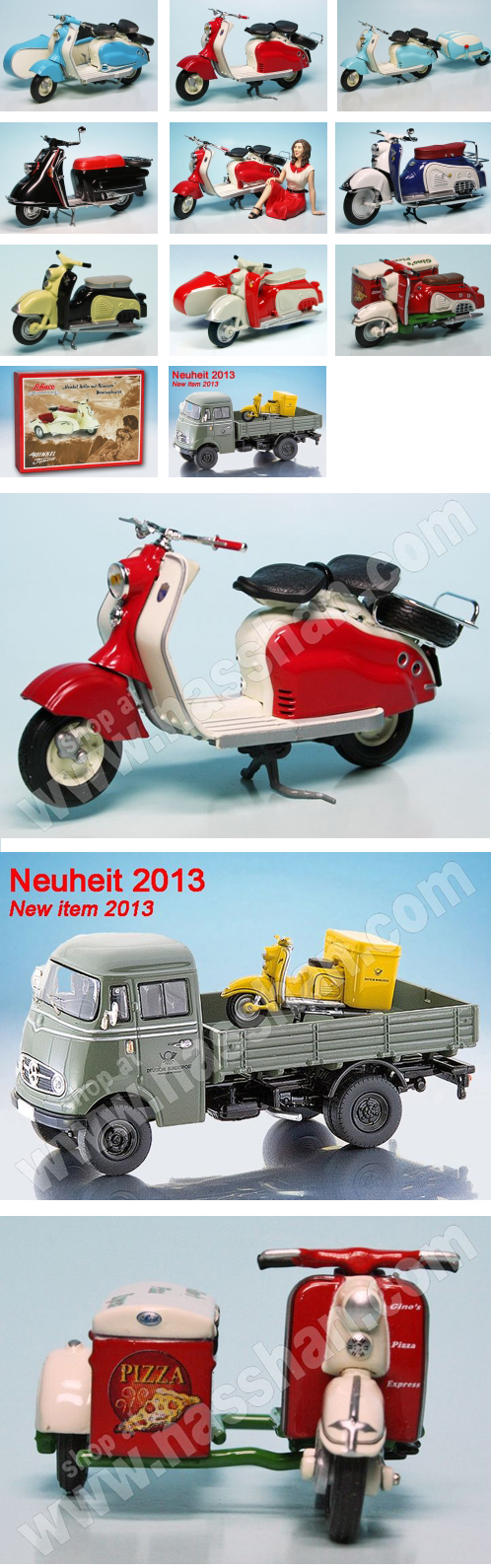 Scooter Lambretta Heinkel Zundapp Bella Scale Models