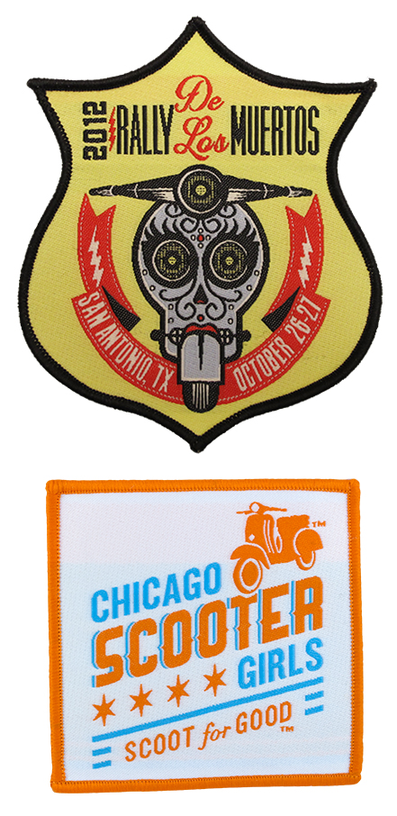 ScooterPatch.com Woven Scooter Rally Patches