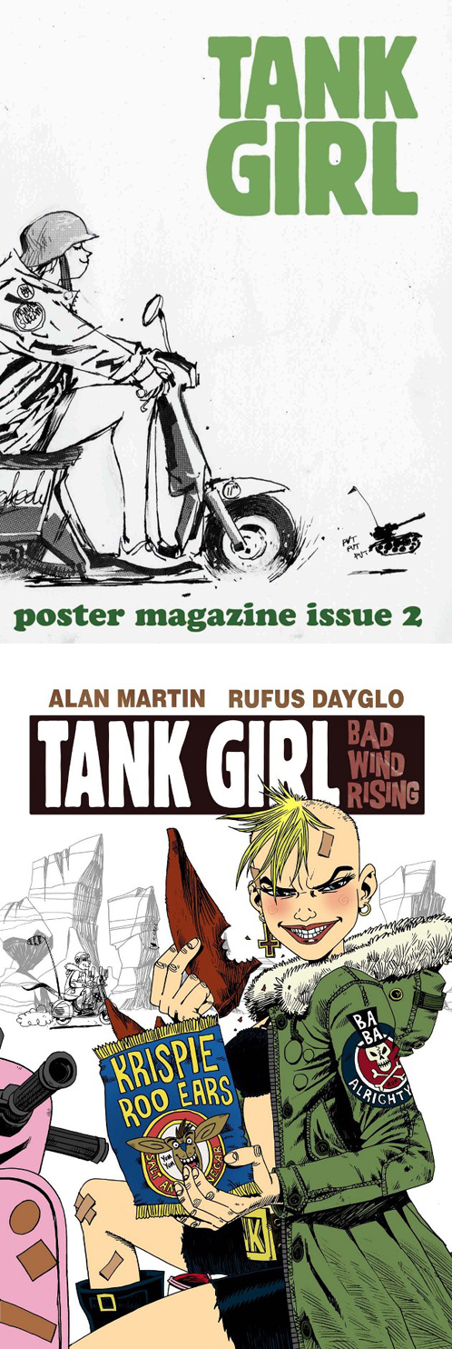 Tank Girl Vespa Scooter Bad Wind Rising Poster Magazine 2