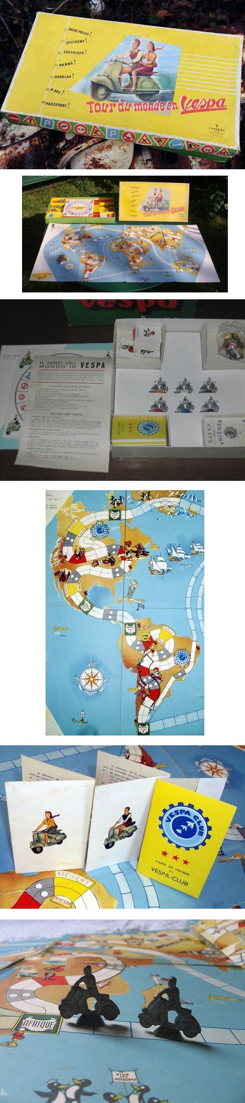 Tour du monde en Vespa Italian Board Game
