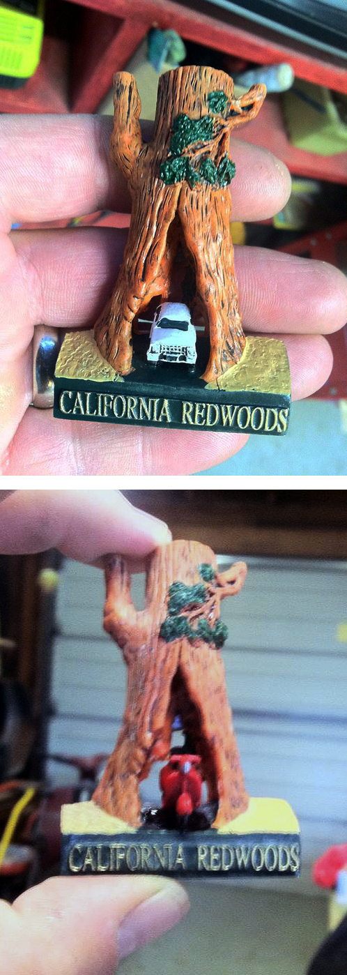 California Redwoods Scooter Vespa Souvenir