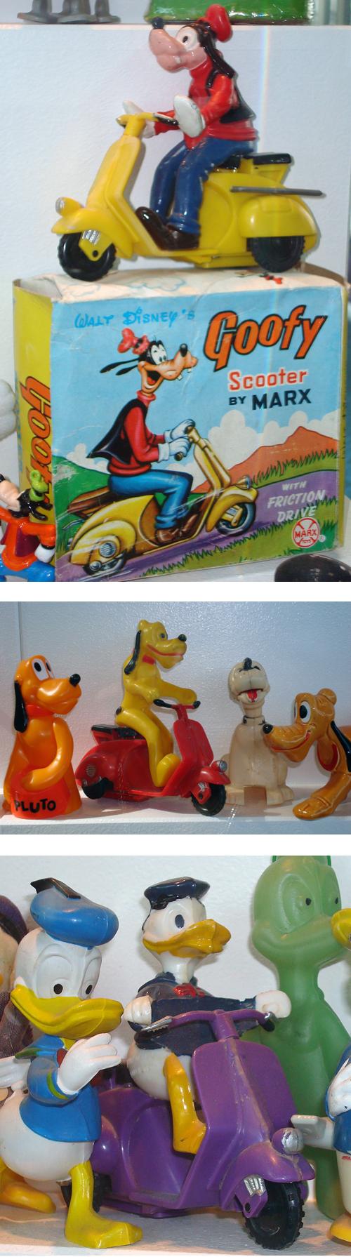 Disney Marx Scooter Vespa Collection Goofy Pluto Donald Duck