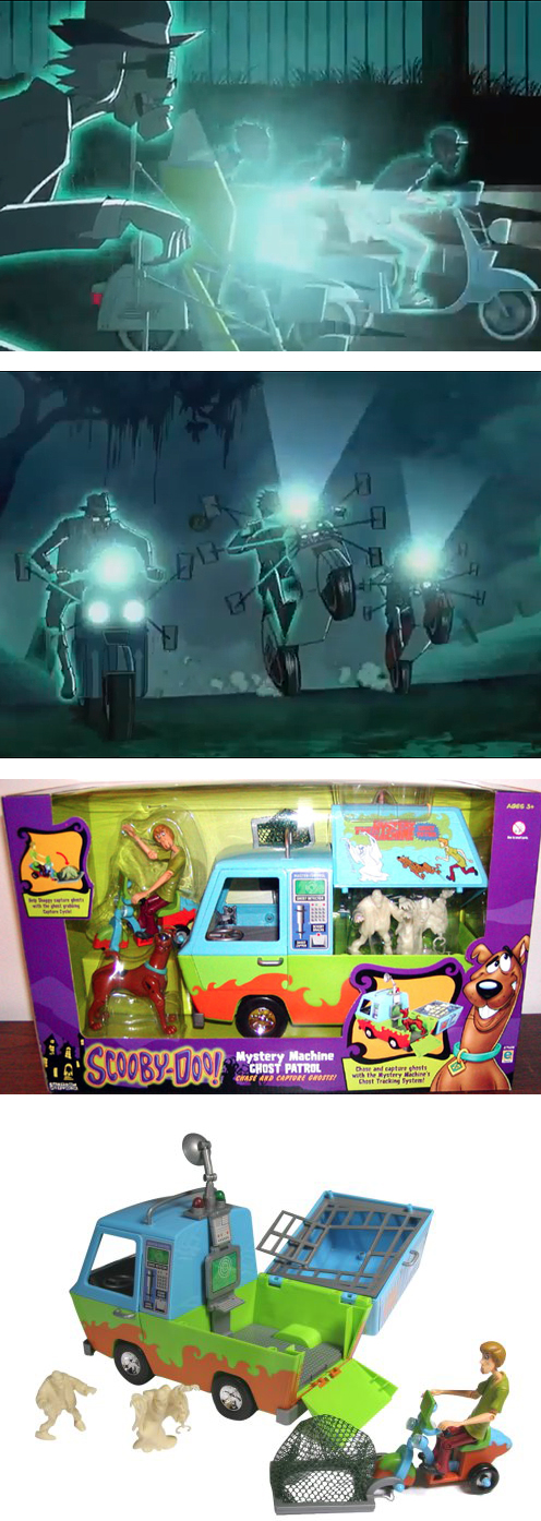 Scooby Doo Ska Rude Boy Vespa Lambretta Mod Mystery Machine Ghost Patrol Scooter Toy