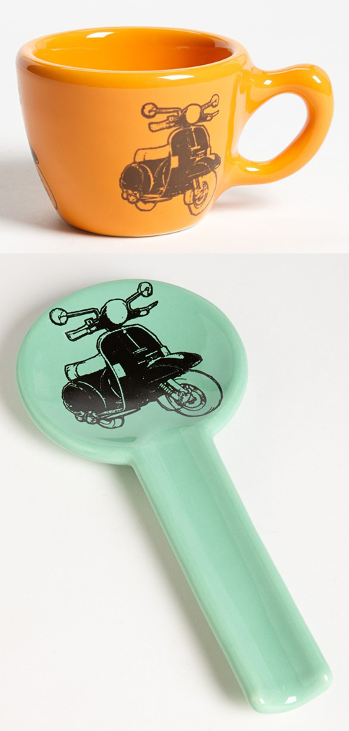 CircaCeramics Mug Cup Tea Spoon Rest Vespa Scooter P200