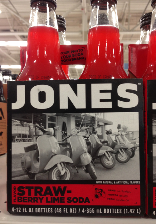 Jones Soda Scooter Vespa Strawberry Lime Windsor California