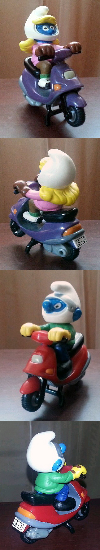 Vespa Honda Spree Elite Smurfs Scooter Toys