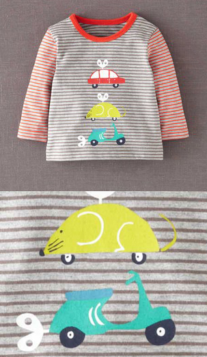 Boden Kids Infants Clothing Vespa Scooter Wind Up Hodge Podge Shirt