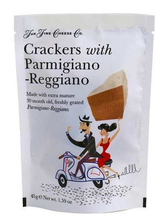 The Fine Cheese Company Crackers Parmigiano-Reggiano Scooter Vespa