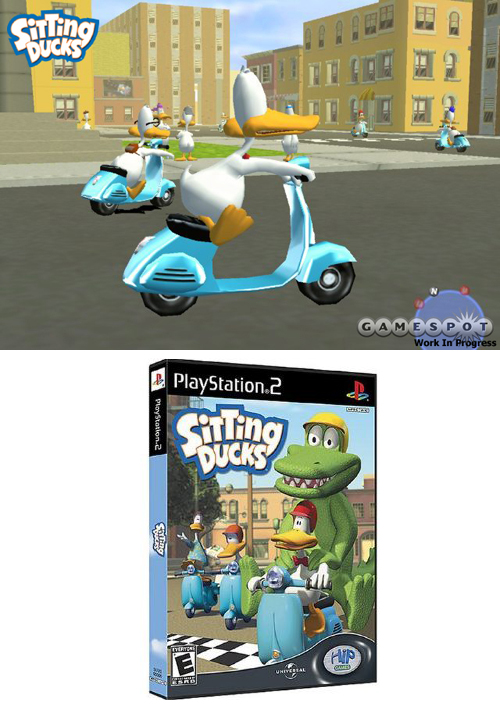 Sitting Ducks Vespa Scooter Video Game Playstation