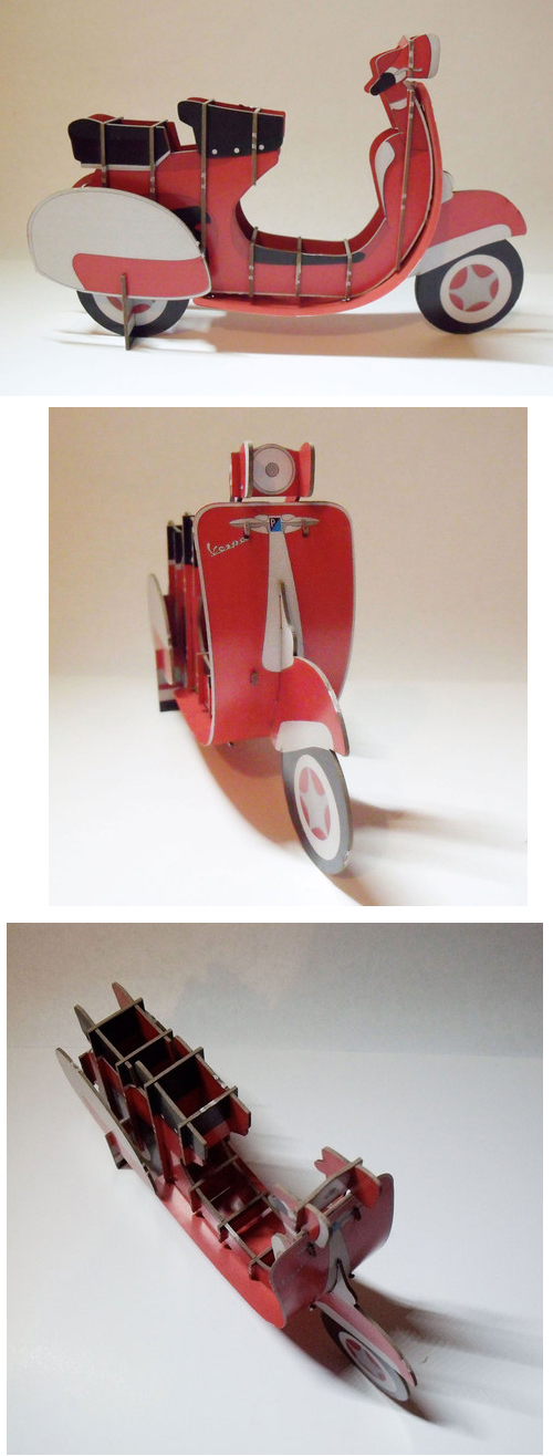 Fedrigoni paper model Vespa Scooter