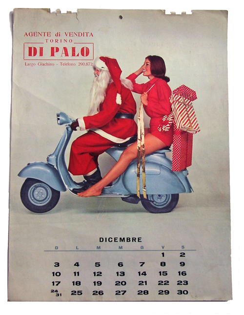 Italian Vespa Santa Christmas Calendar
