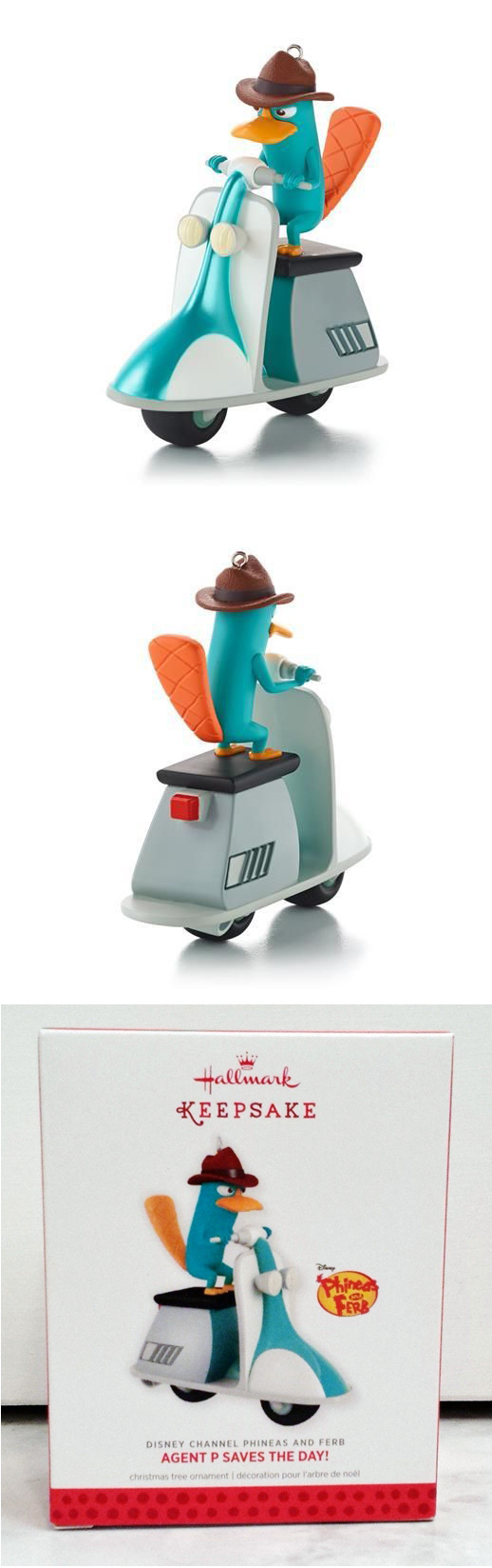 Agent P Scooter Hallmark Christmas Ornament Phineas and Ferb Disney