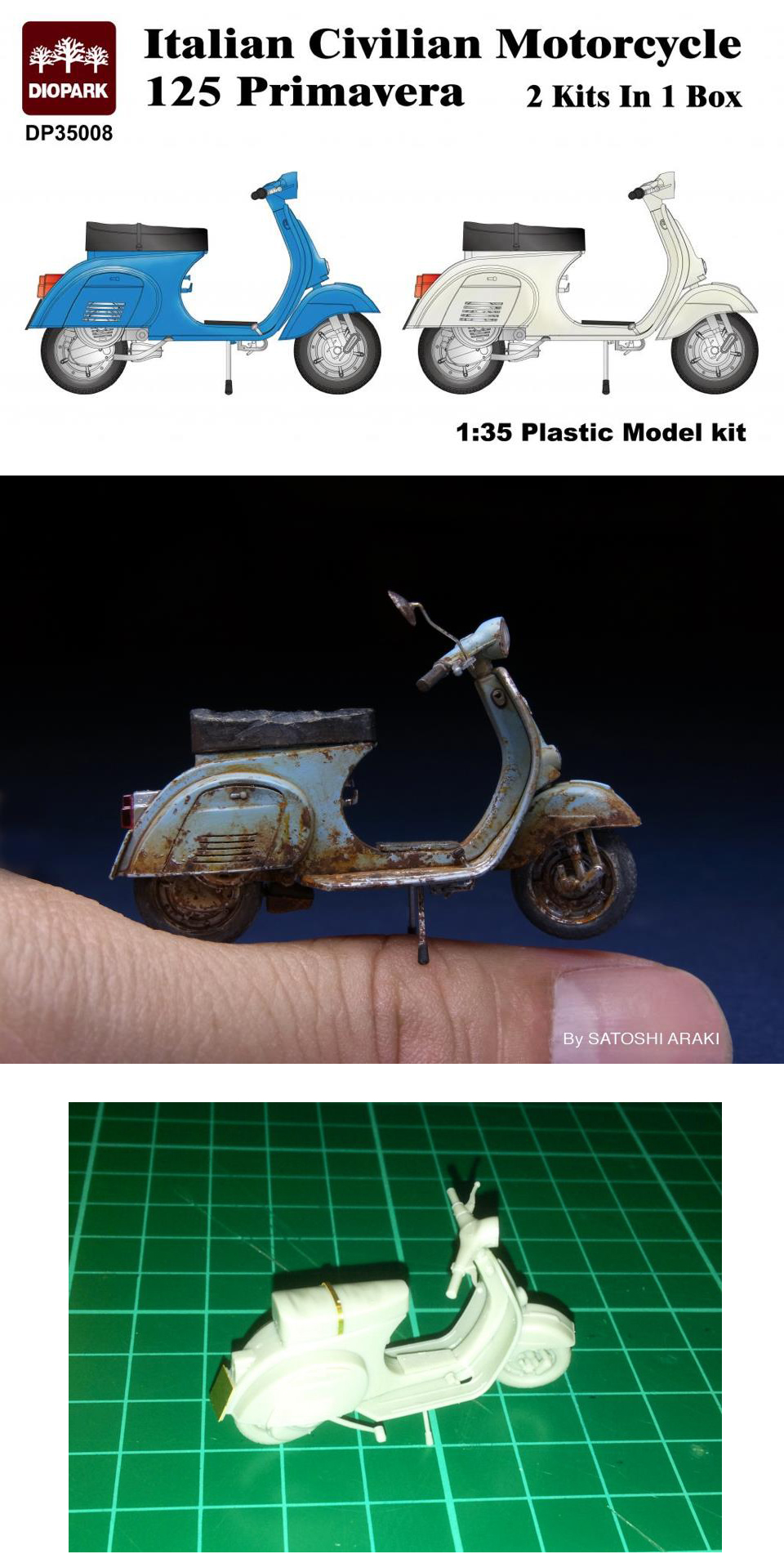 DioPark Scooter Vespa Primavera Models Toys Kit