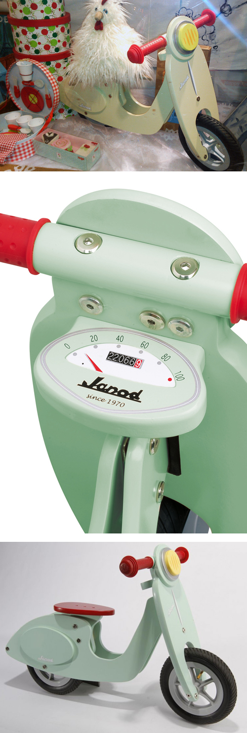 Janod Vespa Rolling Scooter Balance Toy