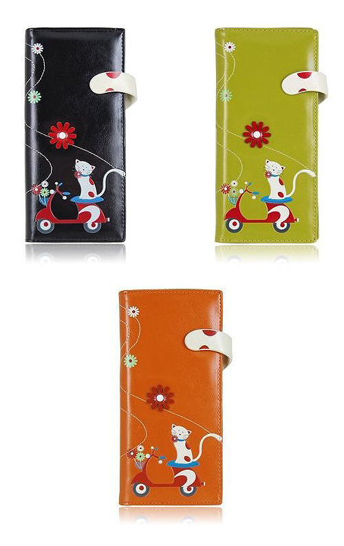 Espe Wallet Felicity Cat Vespa Scooter