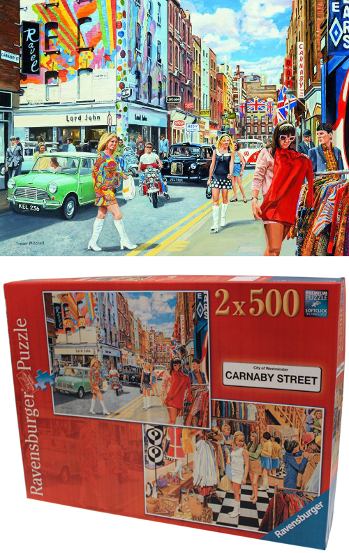 Ravensburger Puzzle Carnaby Street Scooter Vespa Lambretta