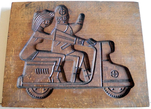 Scooter Cookie Cutter Mold Dutch Speculaas Spice
