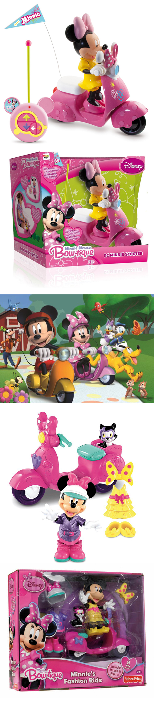 Minnie Mouse Disney Bow-tique Scooter Vespa Puzzle Mickey Clubhouse