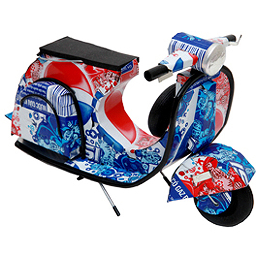 Pepsi Aluminum Can Scooter Vespa Model Toy