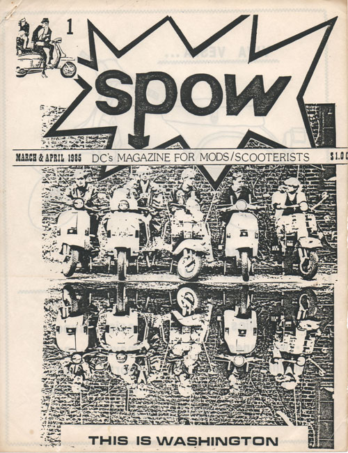 Spow mod zine cover 1984 scooter vespa washington dc