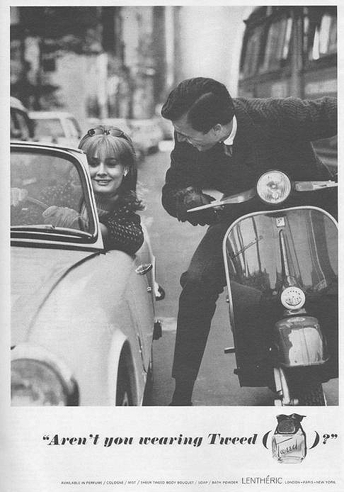 Tweed Perfume Ad Vespa Scooter SS