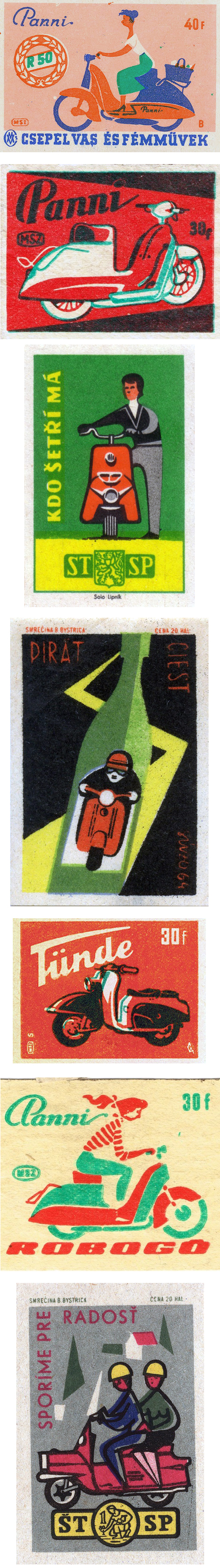 Vintage Scooter Matchbook Matchbox Match Covers
