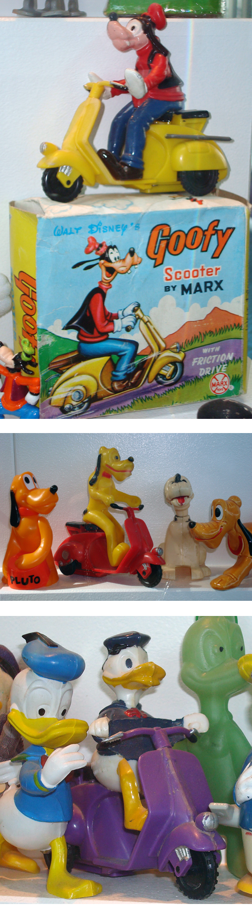 Disney Marx Scooter Vespa Collection Goofy Pluto Donald Duck