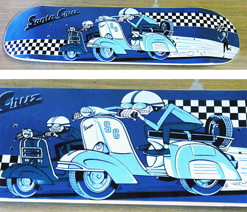 Santa Cruz Scooter Vespa Racing Skateboard Deck