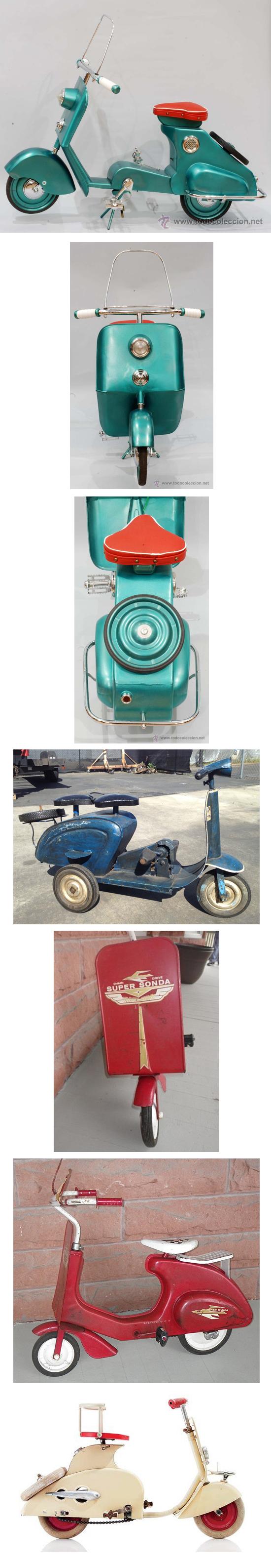 Vintage pedal push scooters vespa lambretta toys