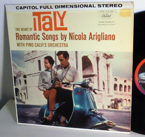 Italy Romantic Songs Album Scooter Vespa Nicola Arigliano