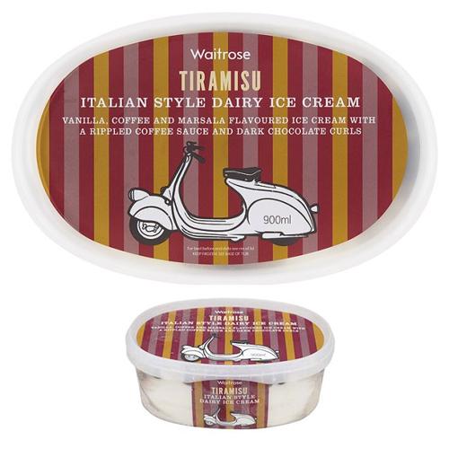 Waitrose Tiramisu Italian Style Ice Cream Vespa Scooter Fenderlight