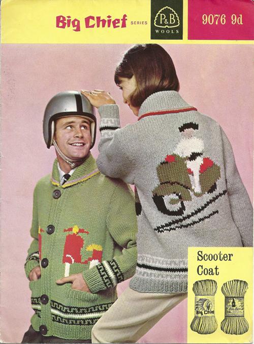 Knitting Sweater Pattern Vespa Lambretta Scooter
