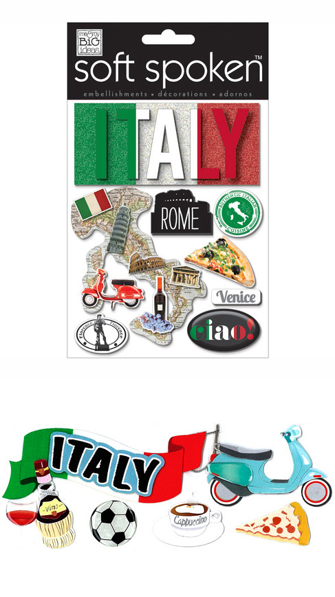 Scrapbook Scooter Vespa Michaels Embellishments Stickers