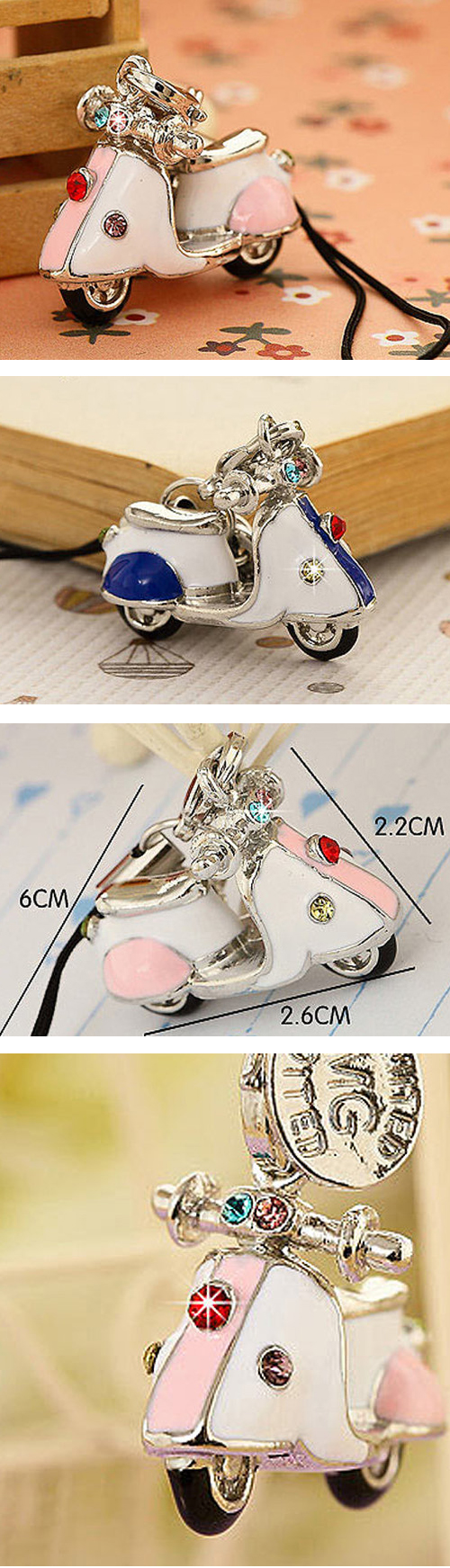 Heinkel German Scooter Vespa Lambretta Charm Jewelry