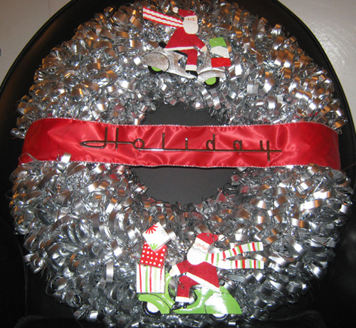 Scooter Swag Vespa Holiday Christmas Wreath