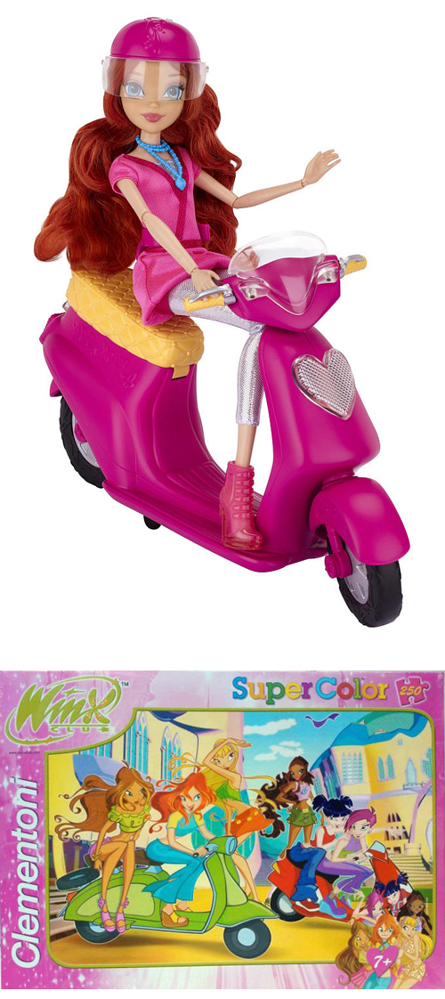 Winx Club Scooter Vespa Toy Bloom Puzzle