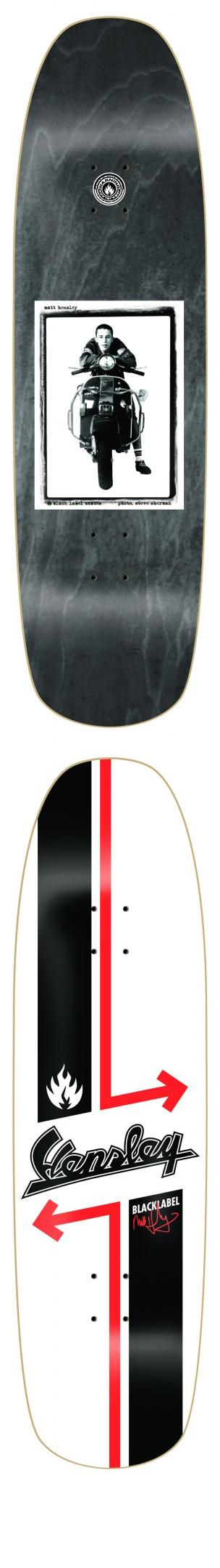 Hensley Vespa Scooter Black Label Skateboard Deck