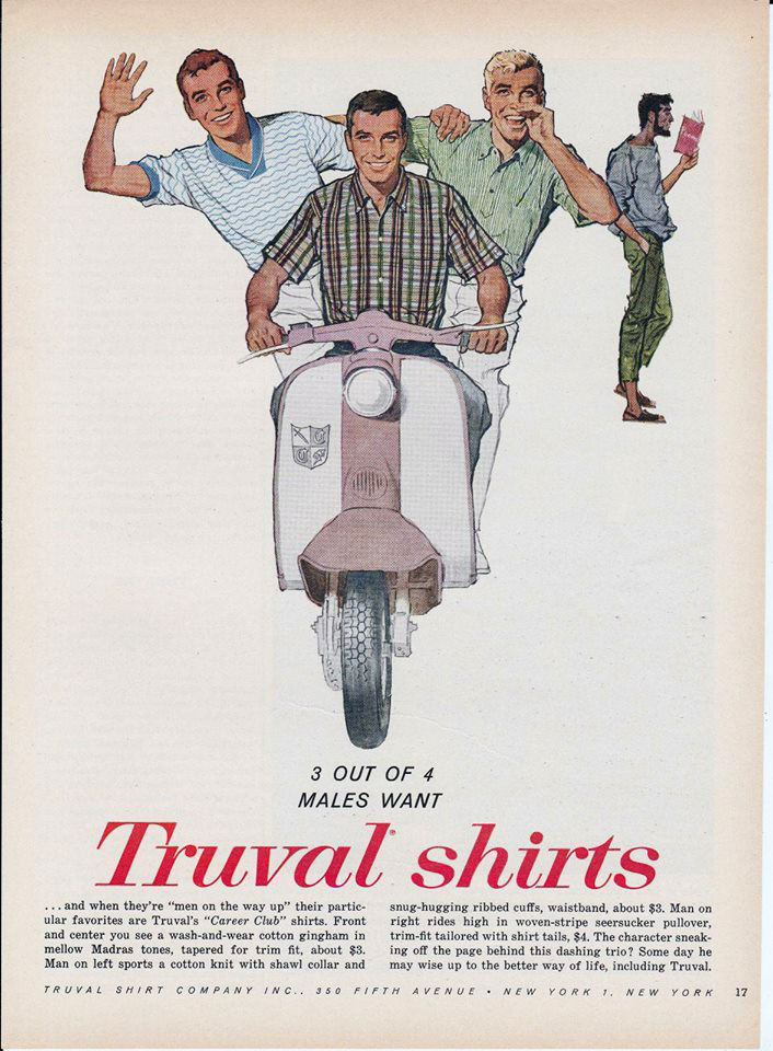 Truval Shirts Scooter Lambretta Ad Vintage